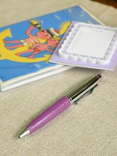 回転式ミニボールペン 【パープル】