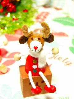 チェコ製 DETOA クリスマスレスニー トナカイ<レッド/ナチュラル>