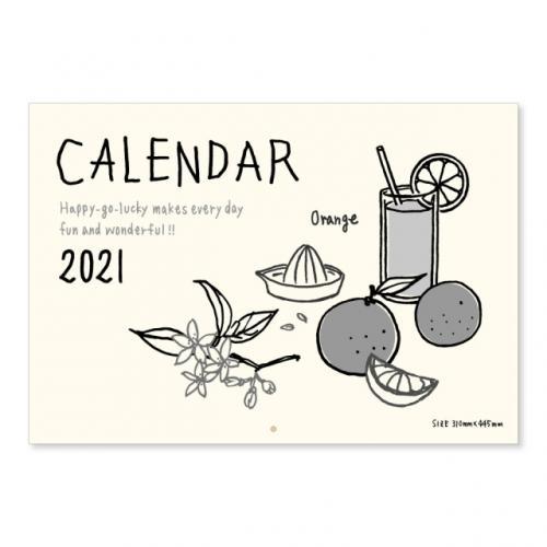 2021年イラストカレンダー 壁掛けタイプ/リュリュ