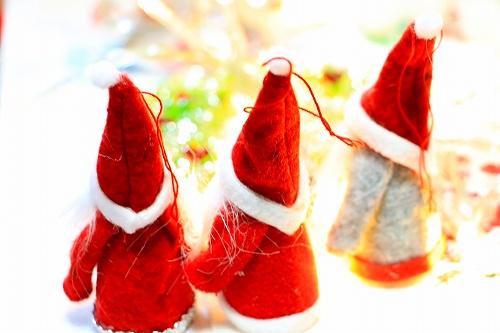 スモールクリスマス サンタ 3個セット