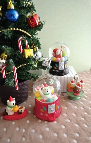 Decole concombre CHRISTMAS スノードーム ガムボール