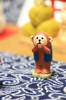 Decole 【お正月シリーズ】 <ポジティブ三猿>(見る、聞く、言う猿 3点セット)
