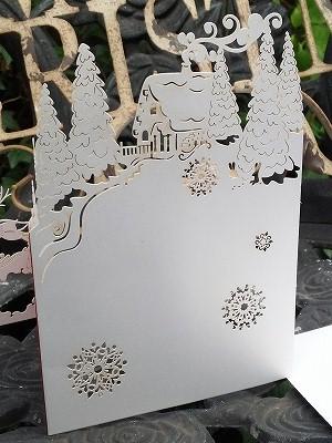【クリスマスカード】COVENT GARDEN/切り絵&アコーディオンカード【サンタ&スレ—】