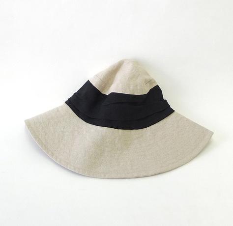 【お洒落な夏帽子♪】 LINEN&コットン <ツイストクロス(ネイビー) ハット>