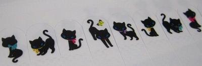 飛び出し部分が傷まない!何度も貼ってはがせる♪ 【プラスチック付箋】 スティッピーミニ 「黒ネコ LoLo」