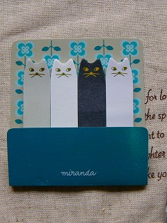 DECOLE miranda 4匹の猫ふせんセット