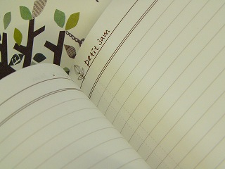 【petit jam】 A5サイズ ノート<木とトリかご/マトリョーシカ>
