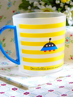 Decole Decolleloプラマグカップ <りんご/ロボット>