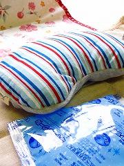 クールピロー<フラワー/ストライプ>〜デスクでお昼寝できる枕 COOLミニピロー♪〜