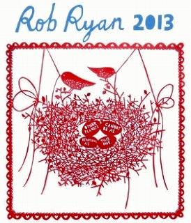 ロブ・ライアン(Rob Ryan) 切り絵 2013年 カレンダー【海外輸入】 「定価:2205円」【送料無料】