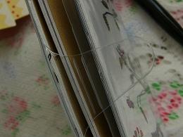 【送料無料!!】 〈〈2014年 手帳〉〉【切り絵 ダイアリー「 モノグラム ブルー」 バード】 スケジュール帳<A6型 マンスリー>