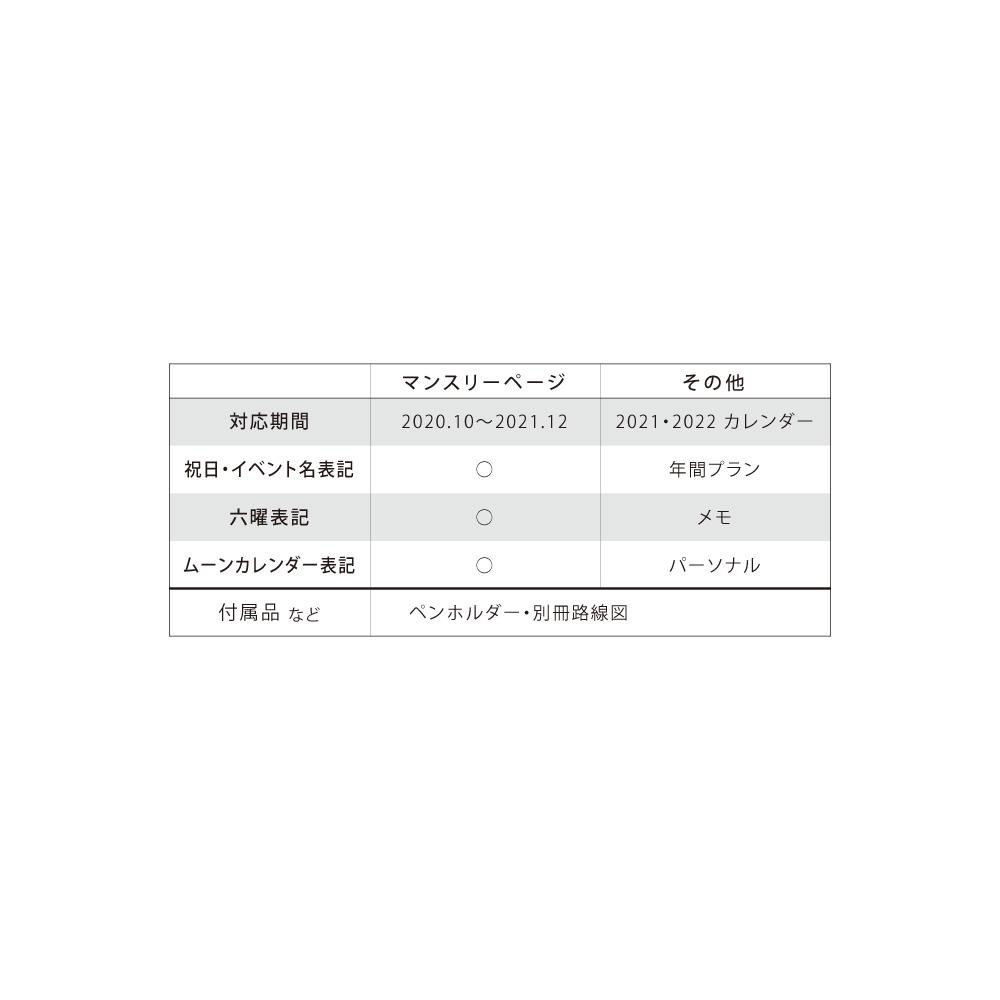 〈〈2021年 手帳〉〉  【エリザベス・オーウェン / ブルー】 <A6型 マンスリー>