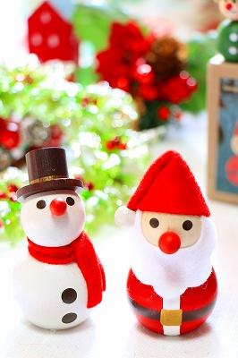チェコ製 DETOA 手のひら人形【赤鼻「サンタクロース」/広襟「トナカイ」/ブラックハット「スノーマン」】