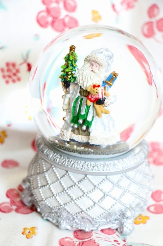 【Xmas(クリスマス)】スノードーム・【シルバーサンタ】