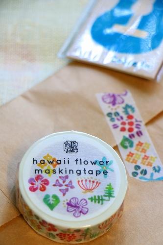 とるねい堂<Tolnedo> オリジナル ALOHA マスキングテープ <hawaii flower masking tape>