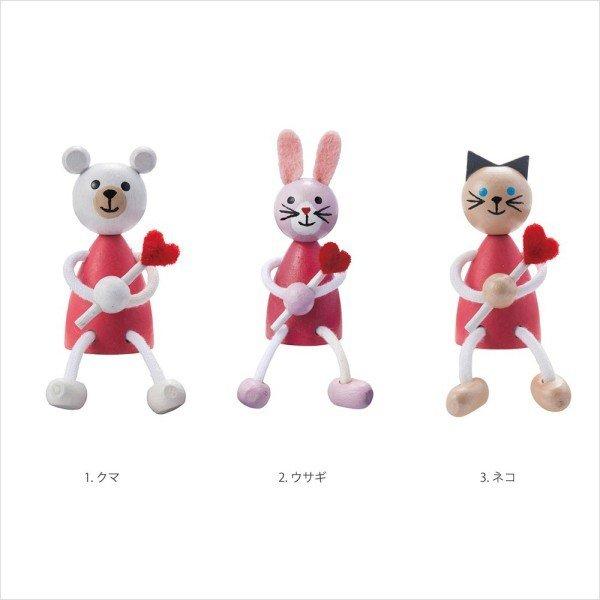 チェコ製 DETOA レスニー<ハート> (クマ/ウサギ/ネコ)