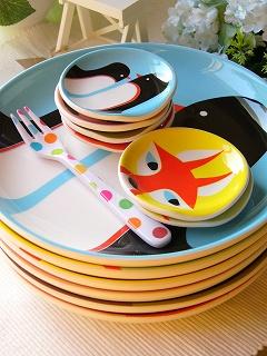 PITTO ピットアニマル食器シリーズ 20cm陶器プレート