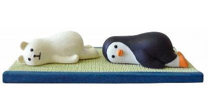 Decole 夏のまったりマスコット <冷やしゴロ寝(しろくま/ペンギン)>