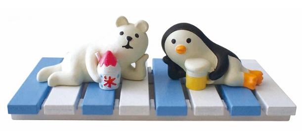 Decole 夏のまったりマスコット <アイス(しろくま/ペンギン)>