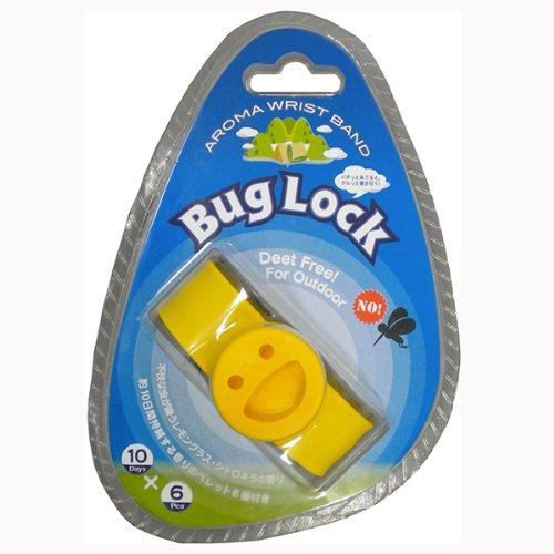 【BugLock バグロック】 虫除けリストバンド <10日間効果が持続!×6ペレット付き>