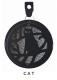 【ポケットにも吊り下げOK♪床置きも◎】DECOLE ポータブル ミニ蚊遣り<CAT【リーフ】>