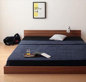 ダブル【スタンダードボンネルコイルマットレス付き】家族ベッド連結ベッドシンプルフロアベッド【Grati】グラティー