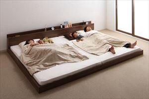 ワイドK260(SDxD)【スタンダードボンネルマットレス付き】家族ベッド連結フロアベッド【LAUTUS】ラトゥース