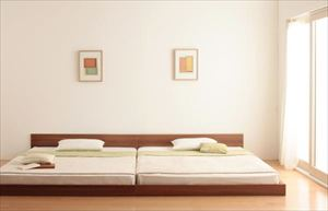クイーン(SSxSS)【プレミアムポケットコイルマットレス付き】家族ベッド連結ベッドシンプルフロアベッド【Grati】グラティー