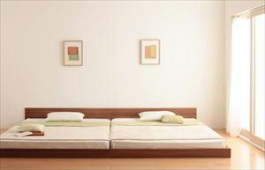 クイーン(SSxSS)【国産カバーポケットコイルマットレス付き】家族ベッド連結ベッドシンプルフロアベッド【Grati】グラティー