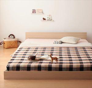 セミダブル【マルチラススーパースプリング付き】家族ベッド連結ベッドシンプルフロアベッド【Grati】グラティー