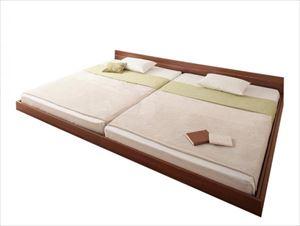 ワイドK240(SDxSD)【マルチラススーパースプリング付き】家族ベッド連結ベッドシンプルフロアベッド【Grati】グラティー