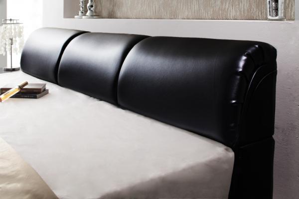 ダブル【スタンダードボンネルコイルマットレス付き】モダンデザインベッド 【Klein Wal】クラインヴァール