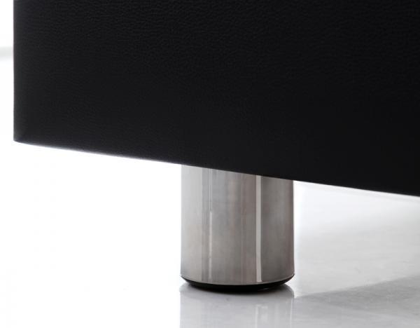 ダブル【スタンダードポケットコイルマットレス付き】モダンデザインベッド 【Klein Wal】クラインヴァール