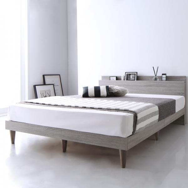 シングル【スタンダードボンネルコイルマットレス付き】棚・コンセント付 すのこベッド【Alcester】オルスター