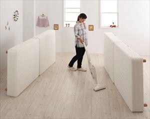 クイーン(SS×2) 脚22cm【ボンネルコイル マイクロファイバータイプ】大型マットレスベッド【ELAMS】エラムス