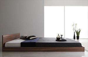 クイーン(Q×1) 【プレミアムボンネルコイルマットレス付】 モダンデザインベッド【Dormirl】ドルミール
