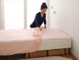 セミシングル 脚30cm ボンネルコイルマットレス ショート丈 脚付きマットレスベッド
