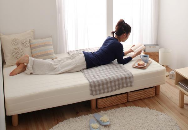 セミシングル 脚22cm ポケットコイルマットレス ショート丈 脚付きマットレスベッド