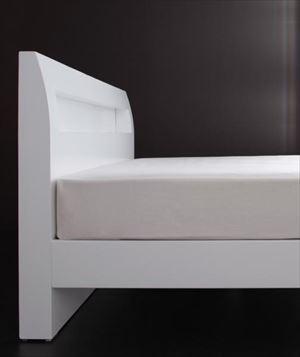 ダブル【ゼルトスプリングマットレス付き】棚・コンセント付 すのこベッド【Alamode】アラモード