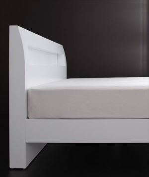 シングル【羊毛入りゼルトスプリングマットレス付き】棚・コンセント付 すのこベッド【Alamode】アラモード