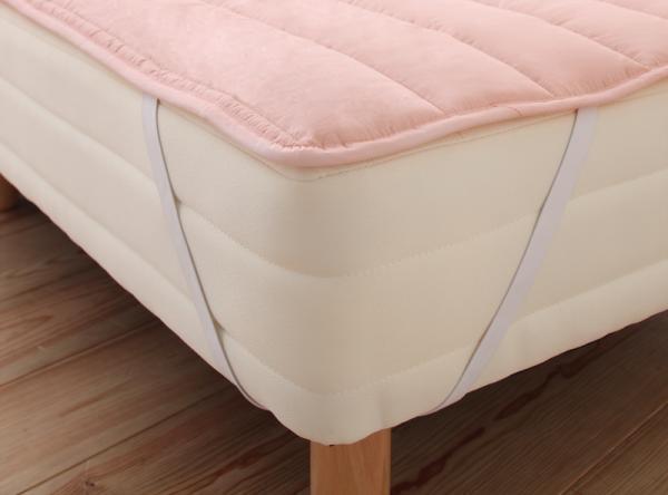 シングル 脚22cm 国産ポケットコイルマットレス ショート丈 脚付きマットレスベッド