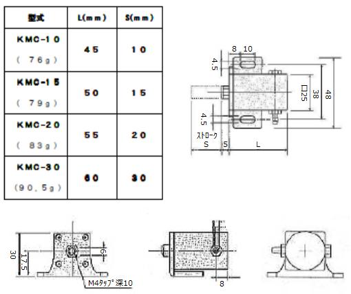 ミニシリンダー・KMC-15W・樹脂製
