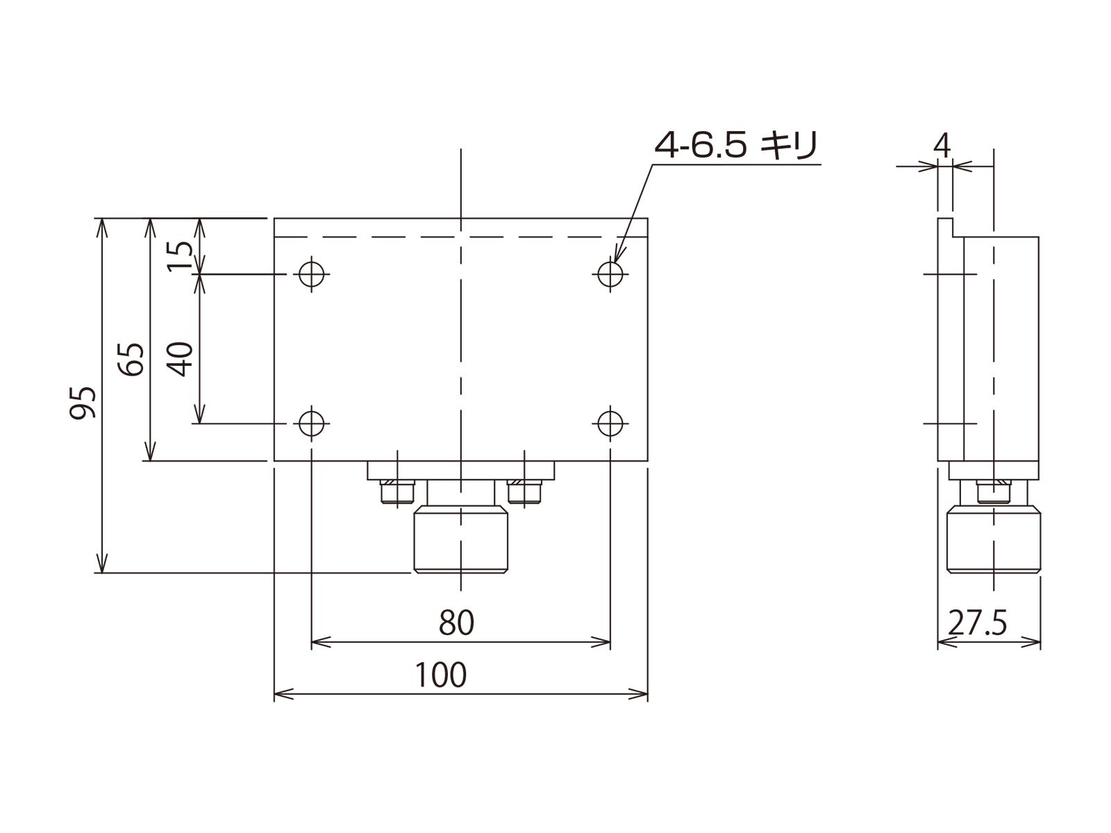 手動ワンタッチ着脱金具・600〜800シリーズ用