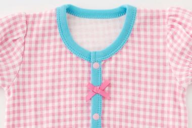 ベビー服 赤ちゃん 服 ベビー ロンパース ボディオール ボディスーツ 肌着 下着 女の子 60 70 80 チェック柄半袖ロンパース