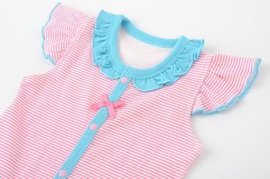 ベビー服 赤ちゃん 服 ベビー ロンパース ボディオール ボディスーツ 肌着 下着 女の子 60 70 80 ボーダー半袖ロンパース