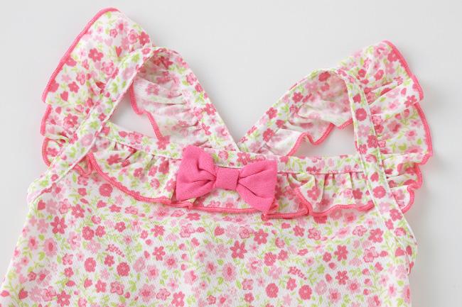 ベビー服 赤ちゃん 服 ベビー 水着 スイムパンツ 小花柄 女の子 80 90 95 水遊び パンツ 小花柄キャミ&スイムパンツセット