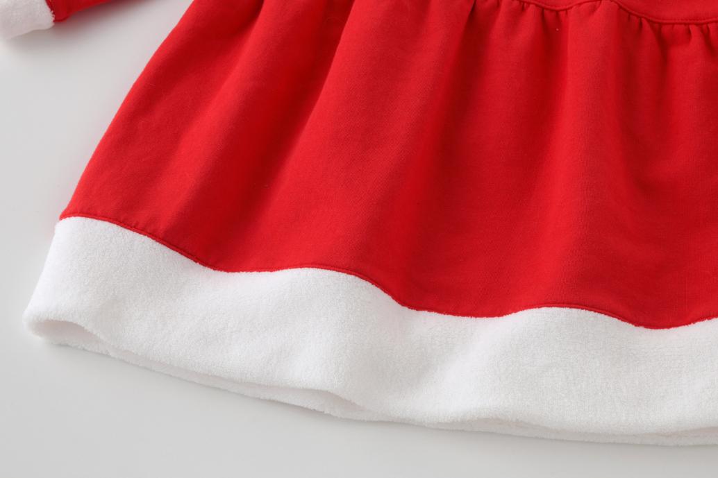 サンタさんワンピース帽子セット