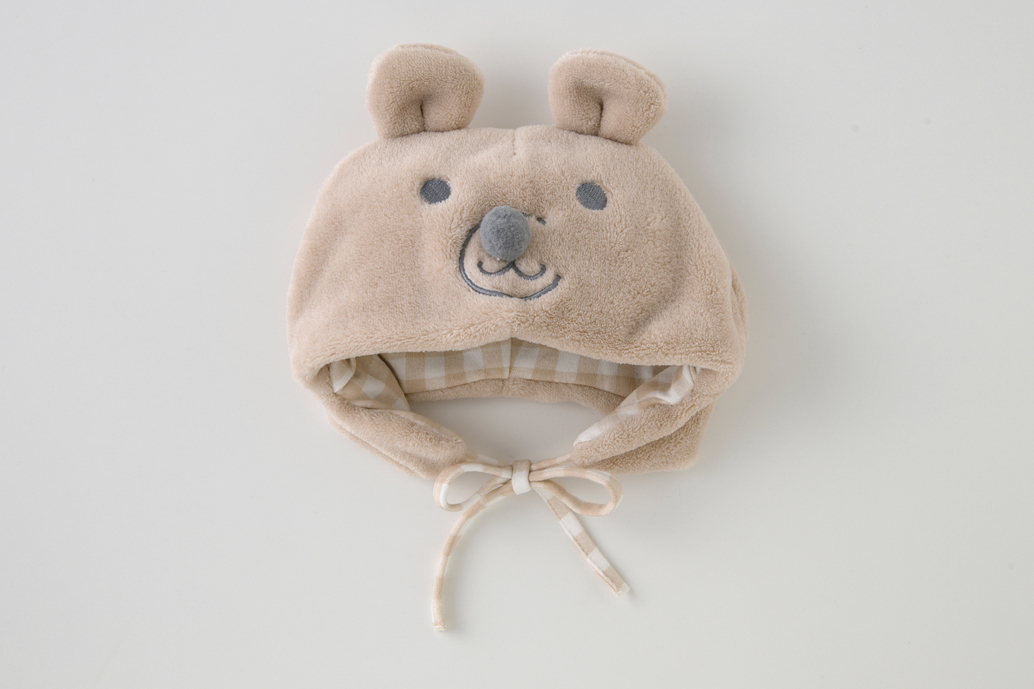 ボンシュシュクマ耳帽子