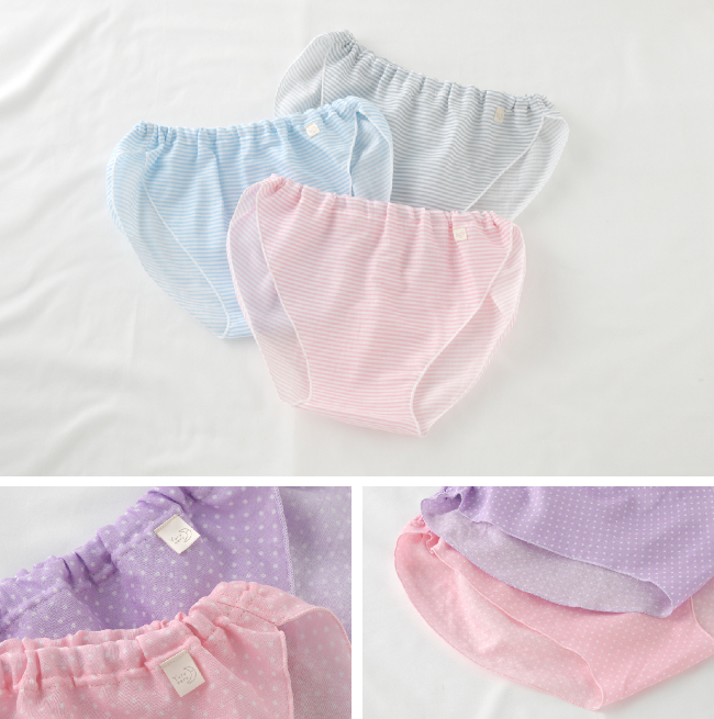 ショーツ パンツ 下着 ふんどし 女性用 レディース 婦人 S M L LL 3L 締め付けない 綿 ガーゼ さら寝ちゃんふんどしショーツ