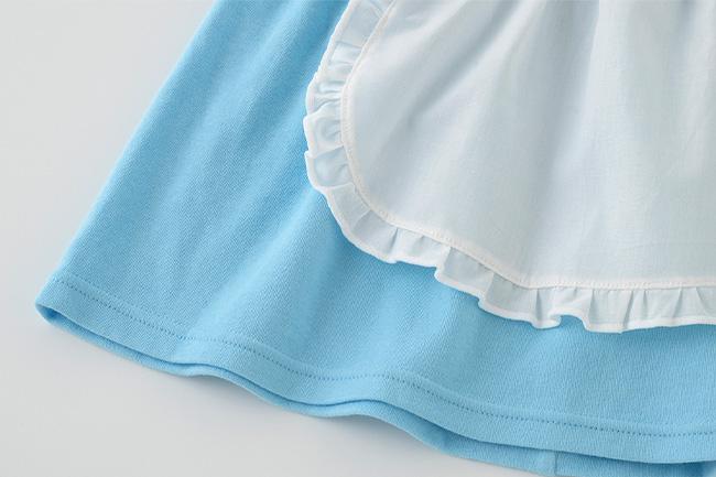 ベビー服 赤ちゃん 服 ベビー ワンピース ヘアバンド コスプレ 仮装 ハロウィン 女の子 70 80 90 アリス風ワンピースセット